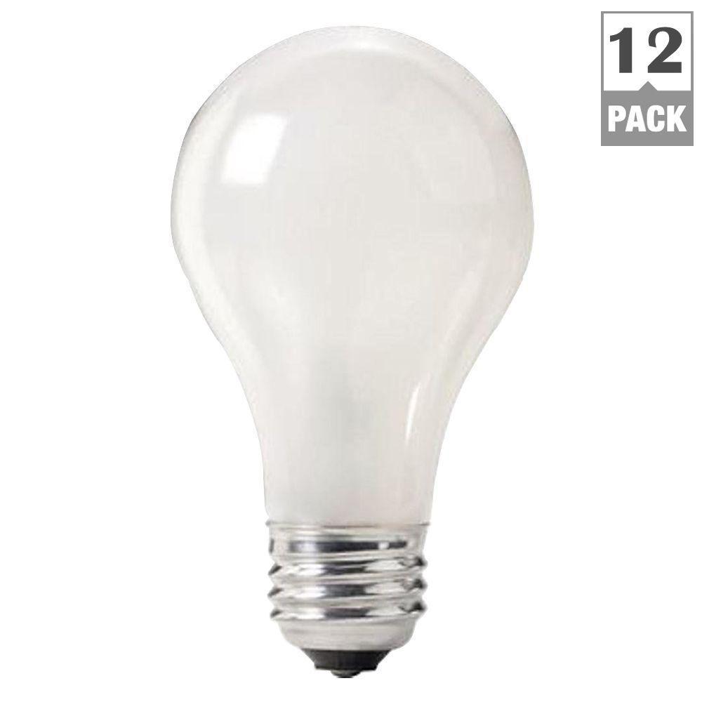 75-Watt Incandescent A19 120-130-Volt Rough Service Frosted Light Bulb (12-Pack)