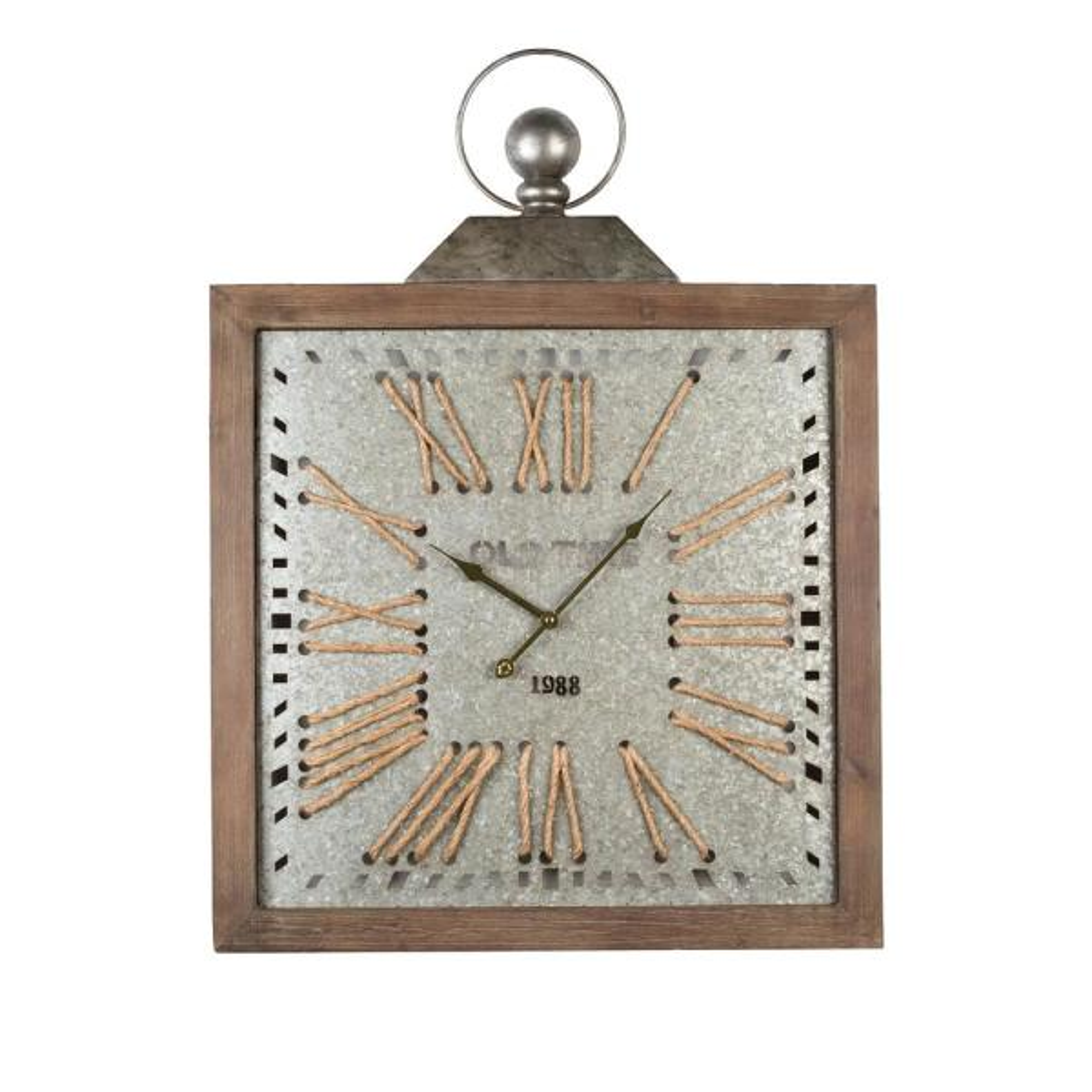 Antique Epoch Metal Wall Clock