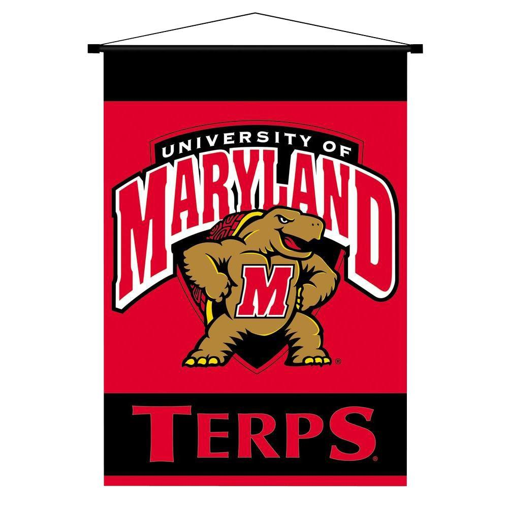BSI Products NCAA Maryland Terrapins Indoor 3 ft. 3 in. x 2 ft. 3 in. Banner Scroll