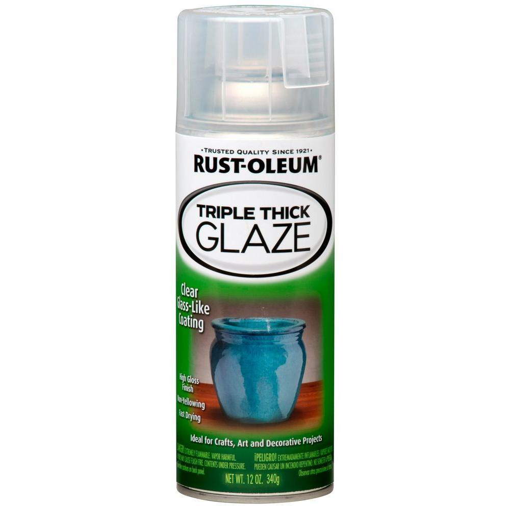 12 oz. Gloss Clear Triple Thick Glaze Spray (6-Pack)