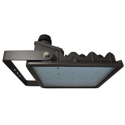 262-Watt Bronze Integrated LED Outdoor Flood Light Yoke Mount