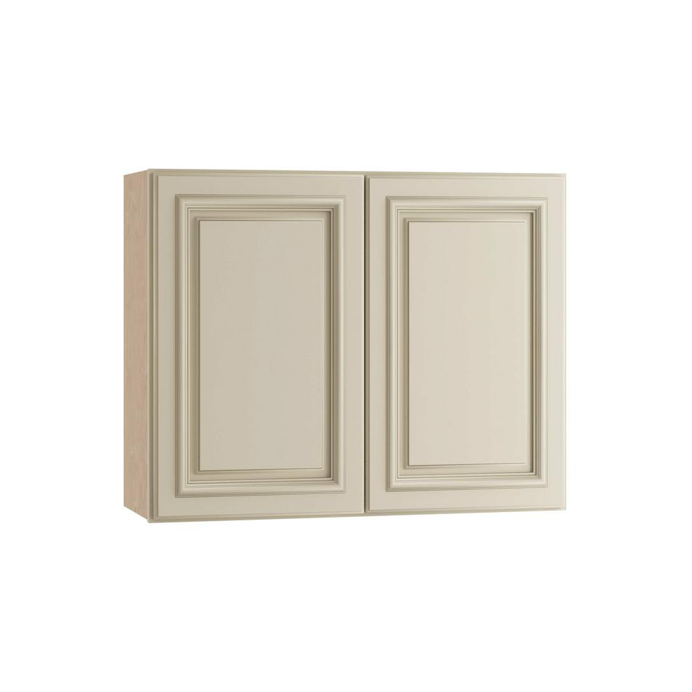 Home Decorators Collection Holden Assembled 30x24x12 in. Double Door Wall Kitchen Cabinet in Bronze Glaze