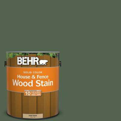 1 gal. #S410-7 Equestrian Green Solid House and Fence Wood Stain