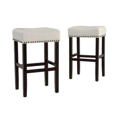 Surprising Faux Leather Backless Saddle Seat Bar Stools Kitchen Gmtry Best Dining Table And Chair Ideas Images Gmtryco