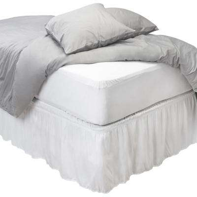 Sanitized Anti-Bacterial Polyester Twin Fitted Waterproof Mattress Cover