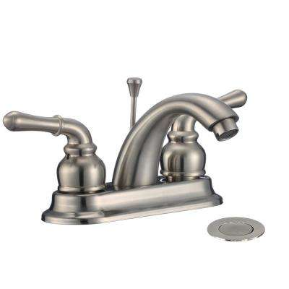 Parabol 4 in. Centerset 2-Handle Bathroom Faucet in Brushed Nickel