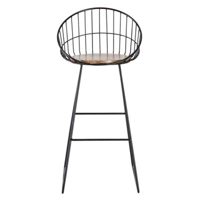 Astrid 41 in. Black & Natural Wood Bar Stool