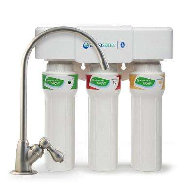 3-Stage Max Flow Under Counter Water Filtration System with Faucet in Brushed Nickel, Bluetooth Compatible