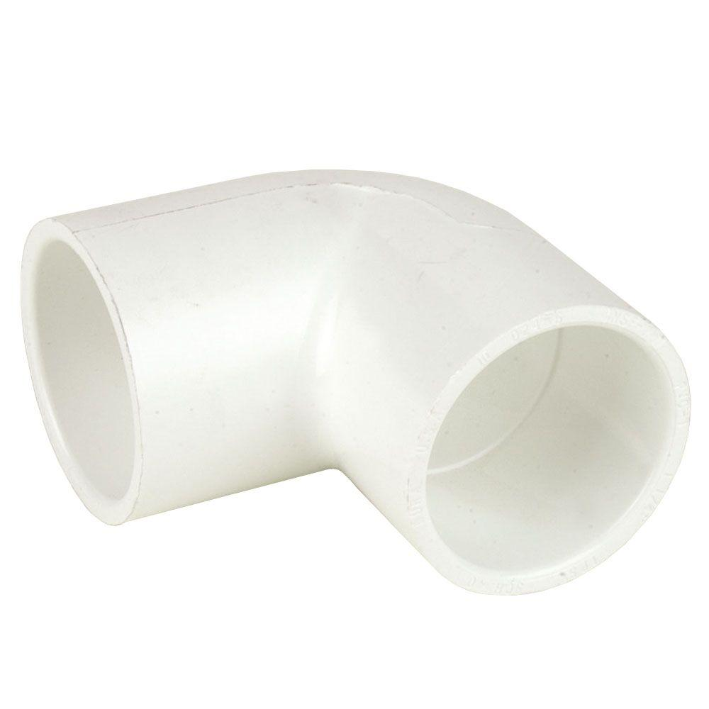 DURA 12 in  Schedule 40 PVC 90-Degree Elbow SxS