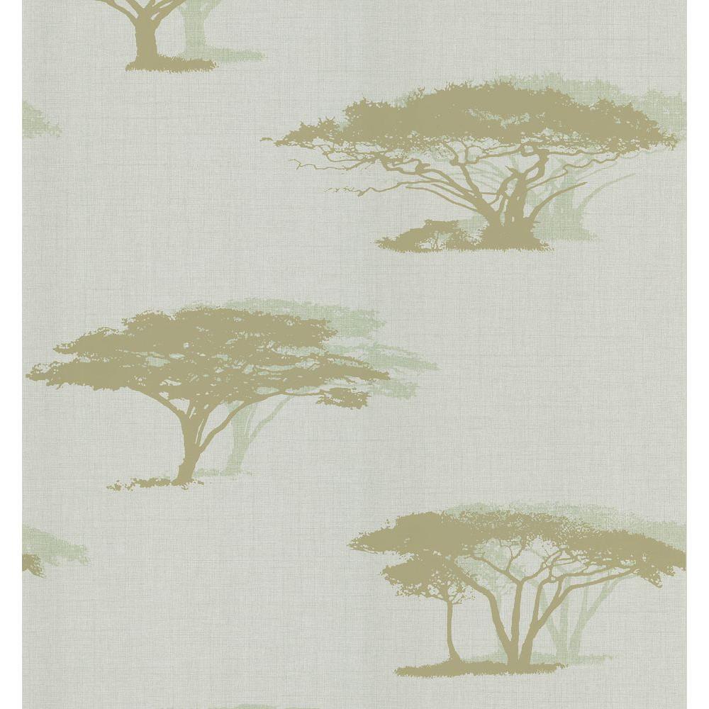 Light Blue Serengeti Tree Wallpaper Sample