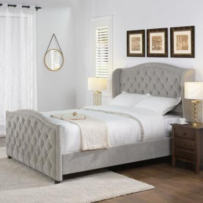 Marcella Silver Grey Queen Upholstered Bed