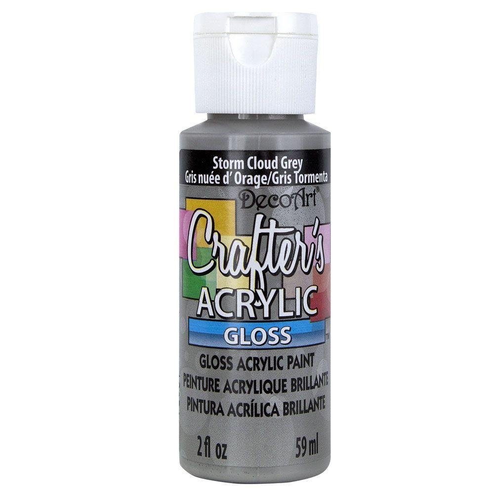 DecoArt 2-oz. Storm Cloud Grey Gloss Crafter's Acrylic Paint