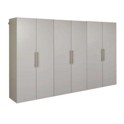 HangUps 72 in. H x 108 in. W Light Gray Wall Mounted Storage Cabinet Set E