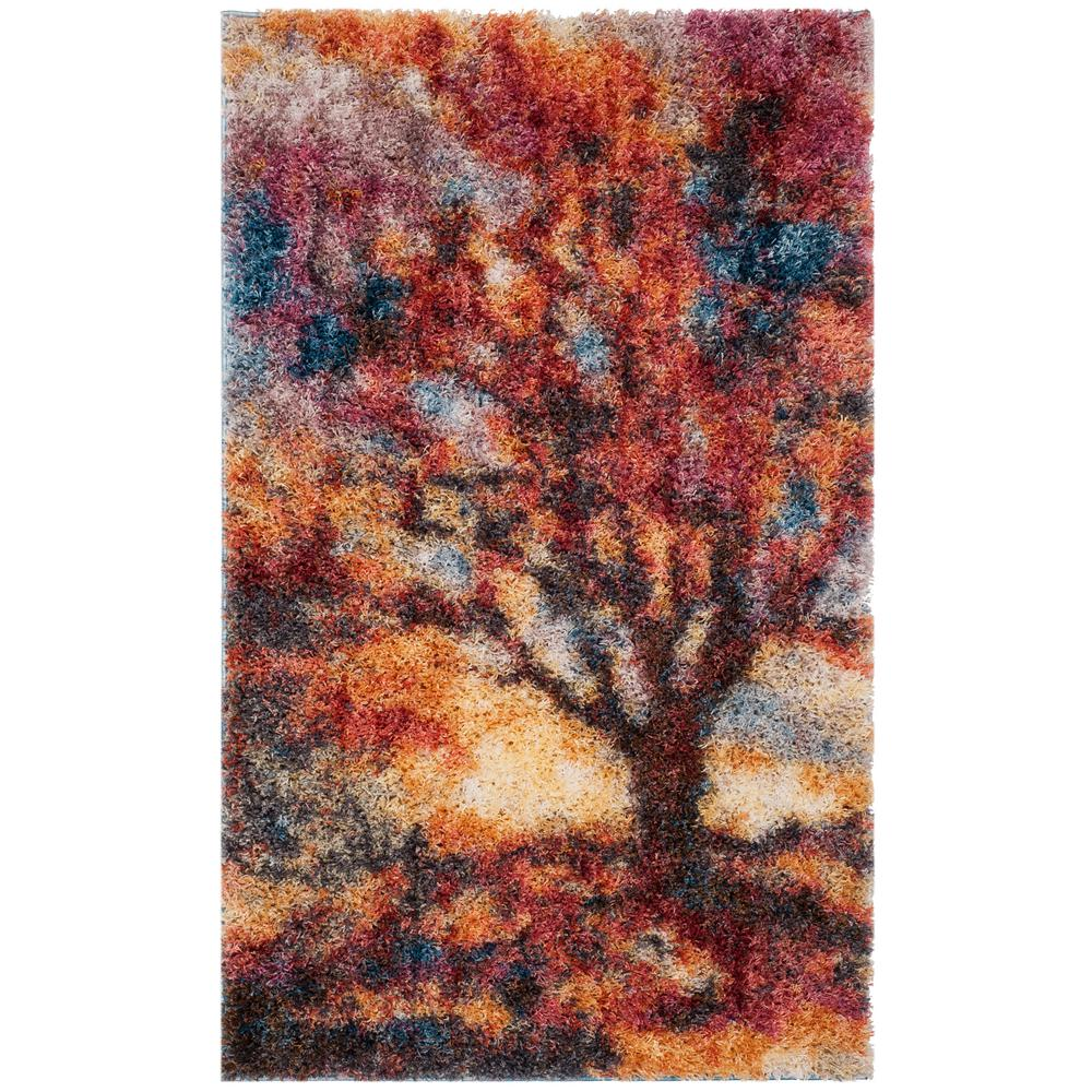 Safavieh gypsy rust blue 3 ft x 5 ft area rug
