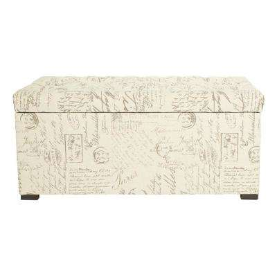 Sahara Script Tufted Storage Bench