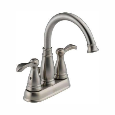 Porter 4 in. Centerset 2-Handle Bathroom Faucet in Brushed Nickel