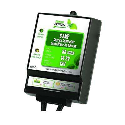 8 Amp 130-Watt 12-Volt Solar Power Charge Controller