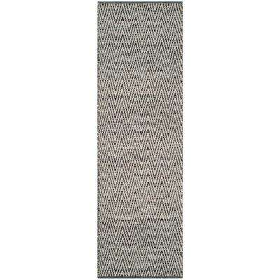 Montauk Ivory/Dark Gray 2 ft. x 7 ft. Runner Rug