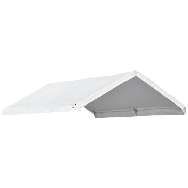 Shelterlogic 10 Ft W X 20 Ft D Accelaframe Canopy Cover In White Fits 1 3 8 In Frame With Water Resistant Fabric 10560 The Home Depot