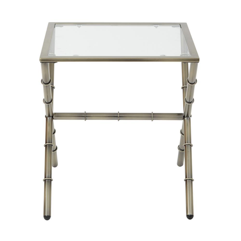 Lanai Antique Brass End Table