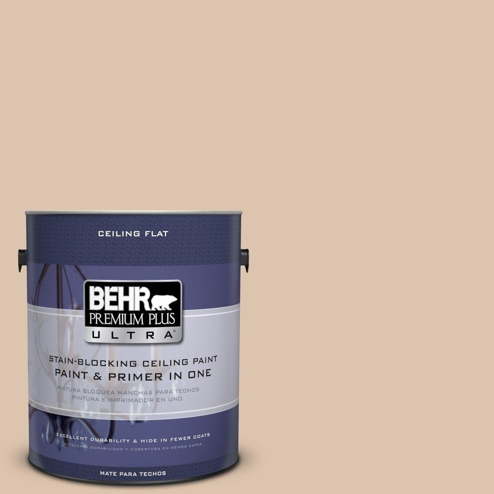 BEHR Premium Plus Ultra 1-gal. #PPU3-8 Ceiling Tinted to Sienna Dust Interior Paint