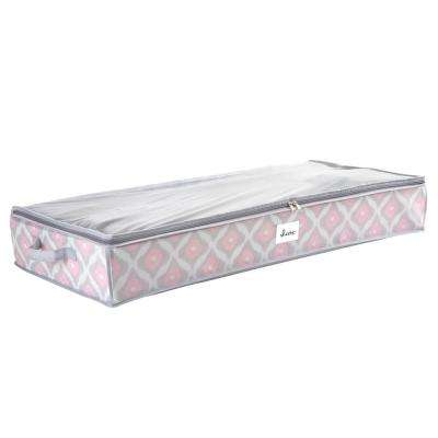 28 in. x 16 in. x 6 in. Closet Candie Under the Bed Storage Bag in Ikat