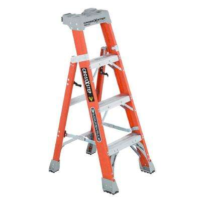 4 ft. Fiberglass Cross Step Ladder with 300 lb. Load Capacity Type IA Duty Rating