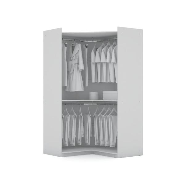 Luxor Ramsey 2 0 White Semi Open 2 Sectional Corner Closet Set Of 2 125hd1 The Home Depot