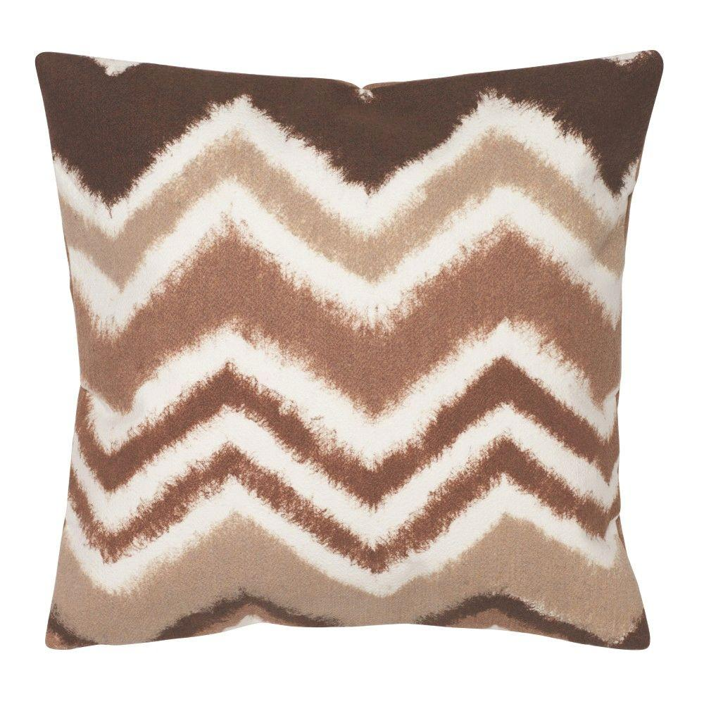 Home Decorators Collection Zigzag Ikat Chocolate Square Outdoor