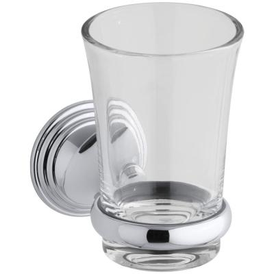 Devonshire 5.125 in. Tumbler and Holder in Polished Chrome