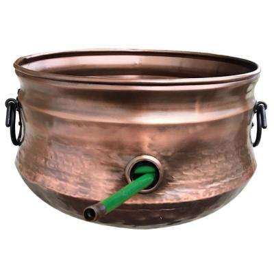 Brass Outdoor Pot for Garden Hose Storage