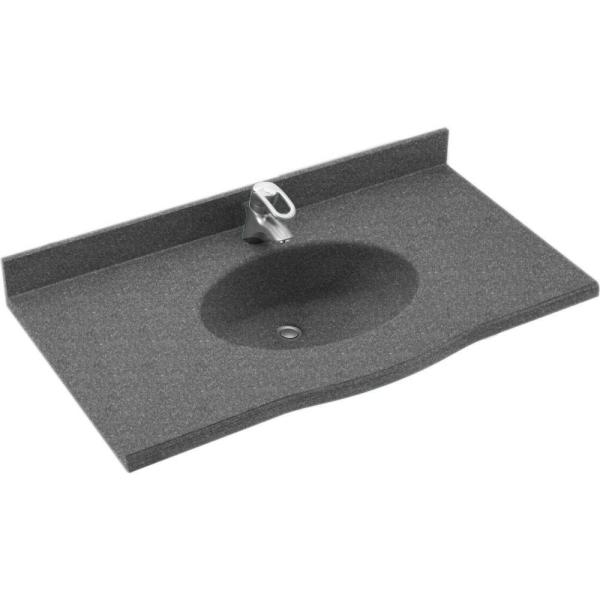 Europa 49 in. Solid Surface Vanity Top with Basin in Night Sky