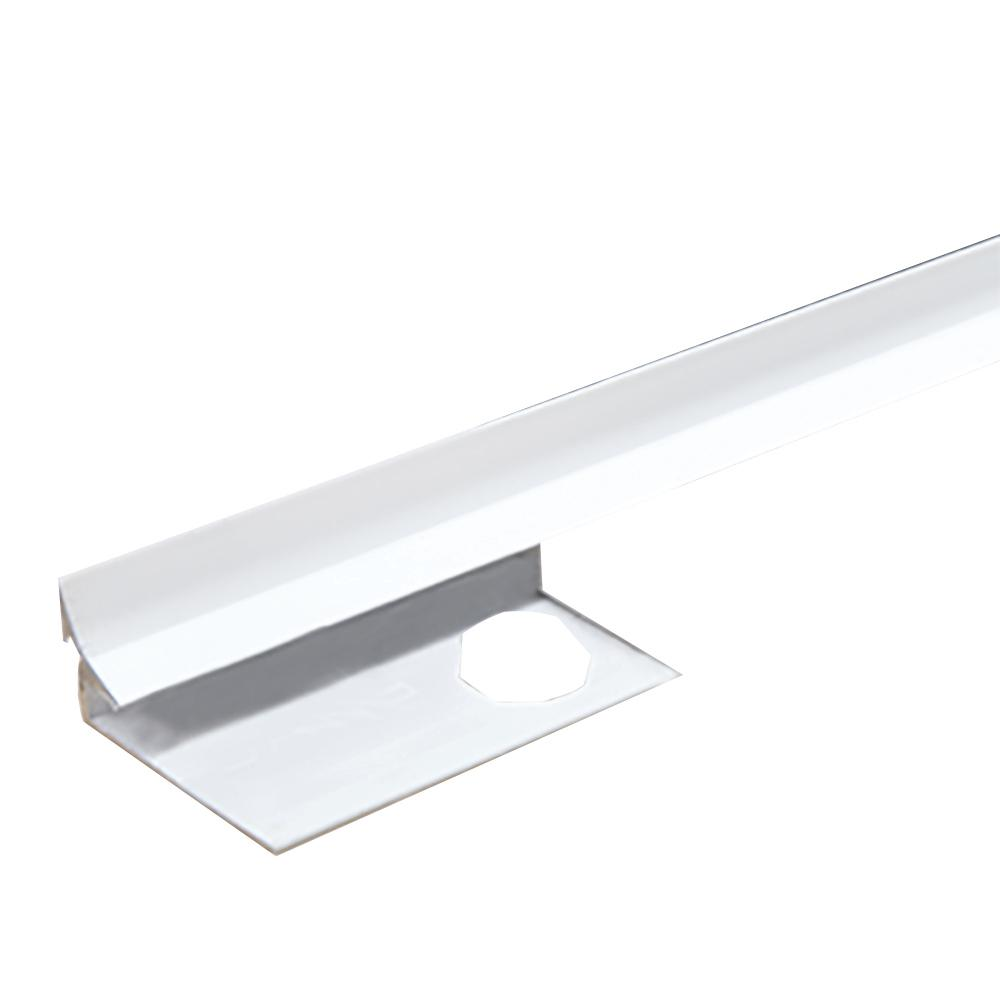 Novoescocia S Antib Bright White 3/8 in. x 98-1/2 in. Aluminum
