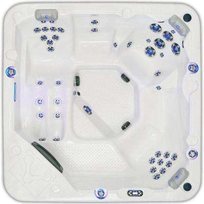Southern Star 6-Person 45-Jet Lounge Spa with Bluetooth Sound System, Waterfall, Colored LED Cabinet/Jet Mood Lighting