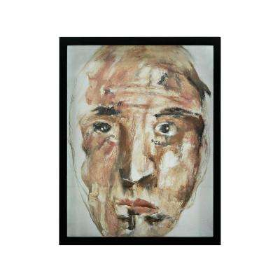 "25 in. x 19 in. ""Confusion"" Hand Painted Framed Canvas Wall Art"