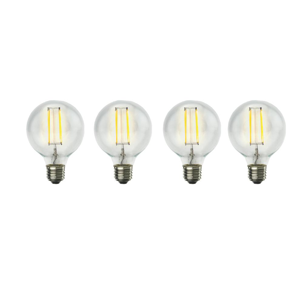 60W Equivalent Warm White Light G25 Dimmable LED Filament Light Bulb