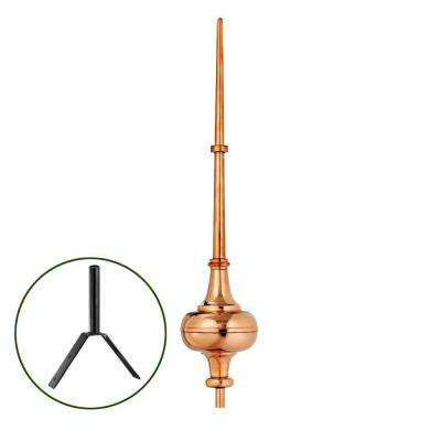 "40"" Morgana Pure Copper Rooftop Finial with Roof Mount"