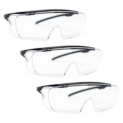 Duarte Premium Over Glasses 3 PAIRS, ANSI Z87.1, Resistant Polycarbonate Lens, UV400, Anti-Fog and Anti-Scratch
