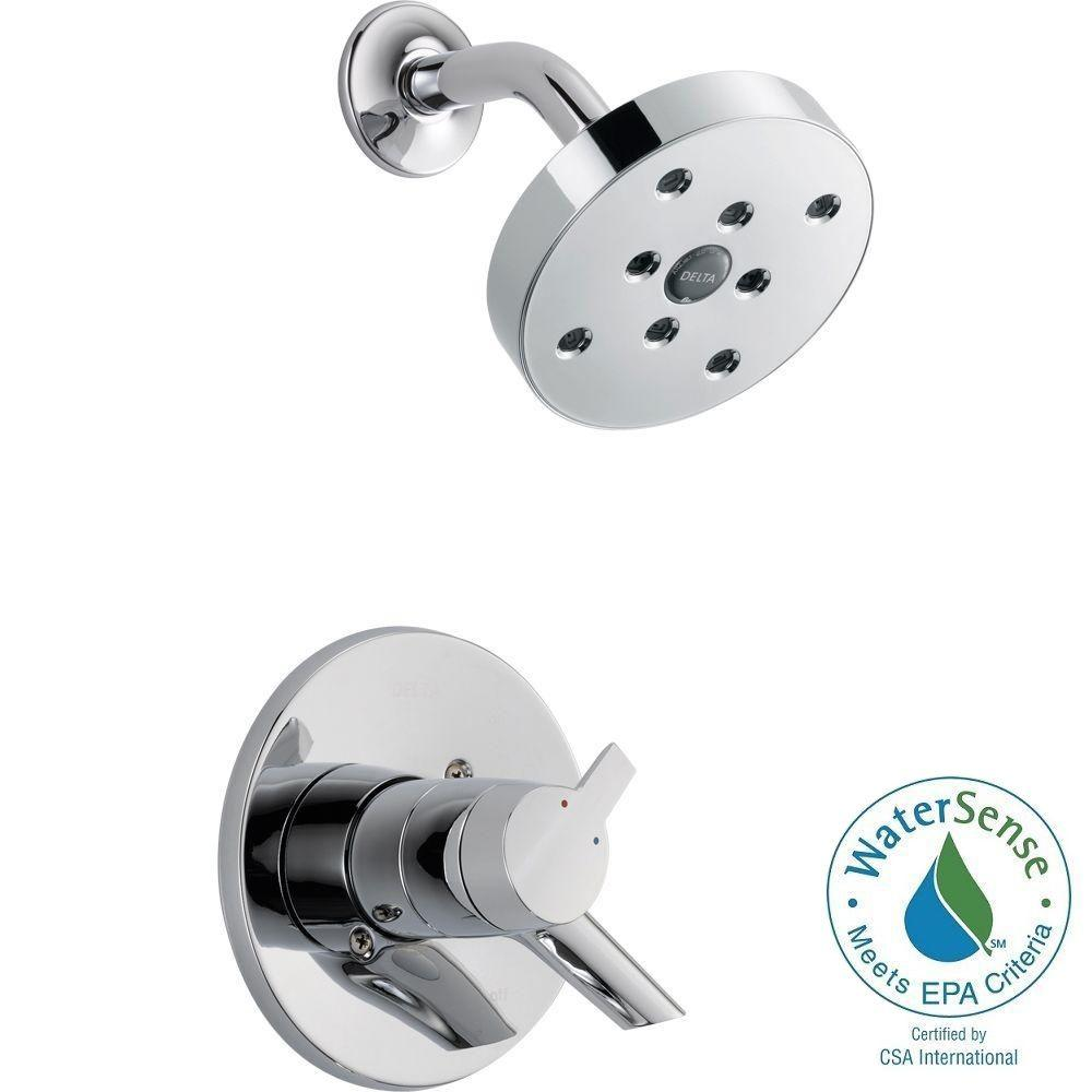 Delta Compel 1-Handle Shower Only Faucet Trim Kit in Chrome (Valve Not Included)