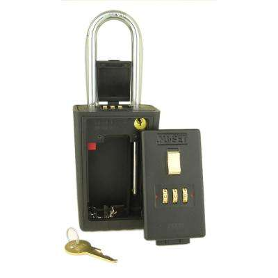 3 Digit Numeric Combination Lock Box with Combo Locking Shackle