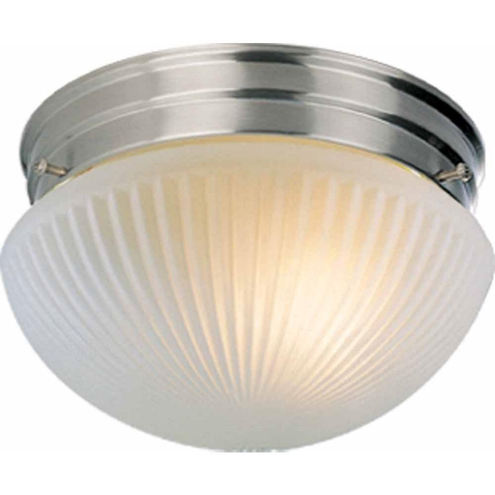 1-Light Brushed Nickel Interior Flush Mount