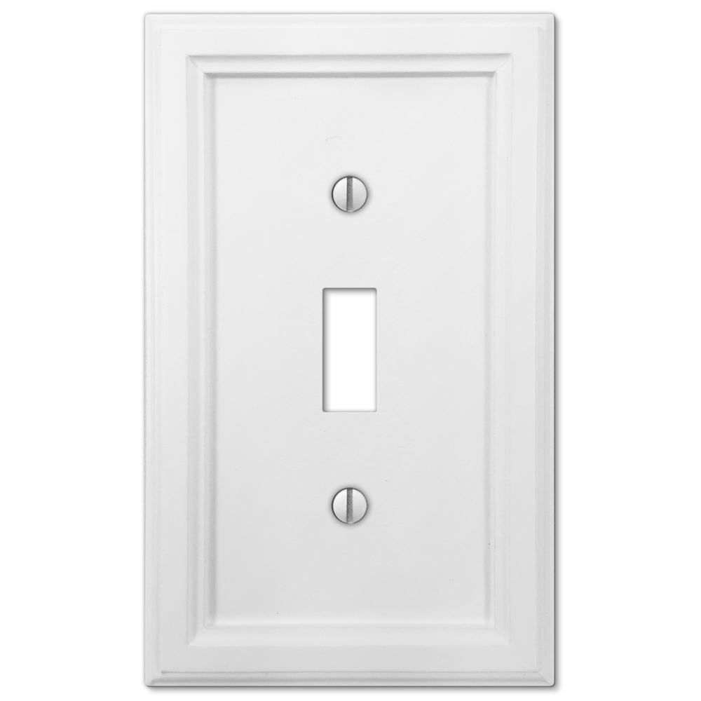 Amerelle Elly 1 Toggle Wall Plate White