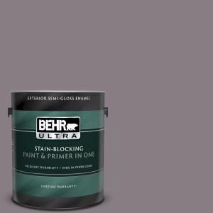 Behr Ultra 1 Gal N570 4 Classy Plum Semi Gloss Enamel Exterior Paint And Primer In One 585301 The Home Depot