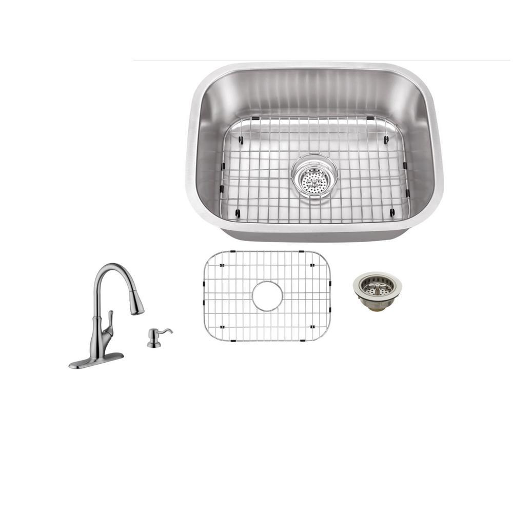 IPT Sink Company Undermount 23 in. 16-Gauge Stainless Steel Kitchen ...