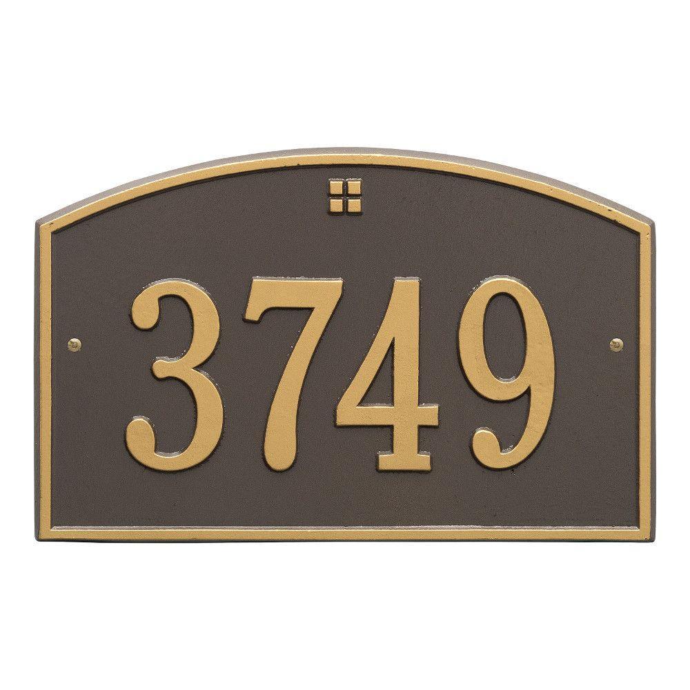 Cape Charles Standard Rectangular Bronze/Gold Wall 1-Line Address Plaque