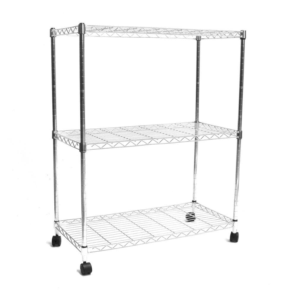 Seville Classics 3-Shelf 30 in. x 14 in. Home Wire Shelving System