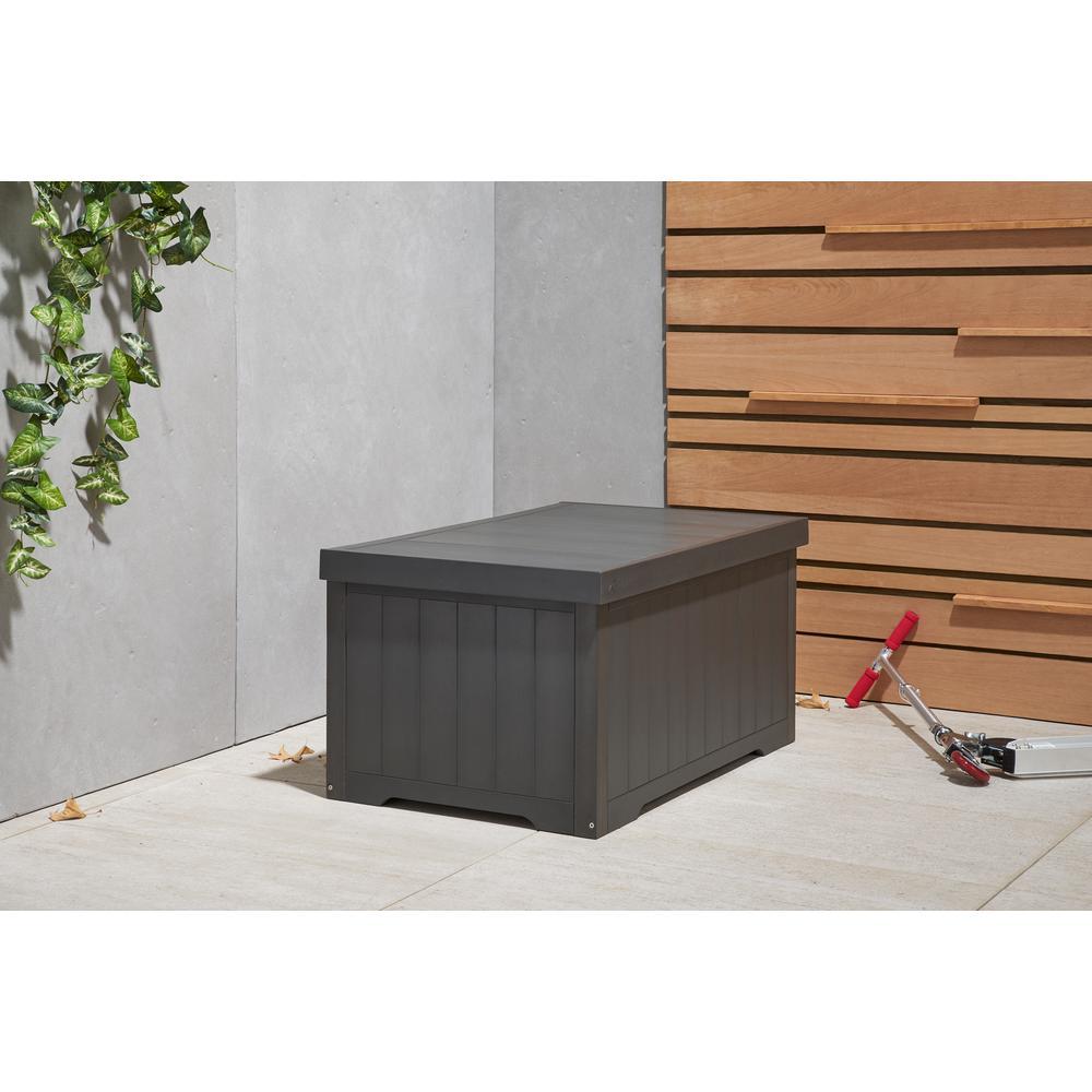 70 Gal. Polystyrene Deck Box Slate Gray