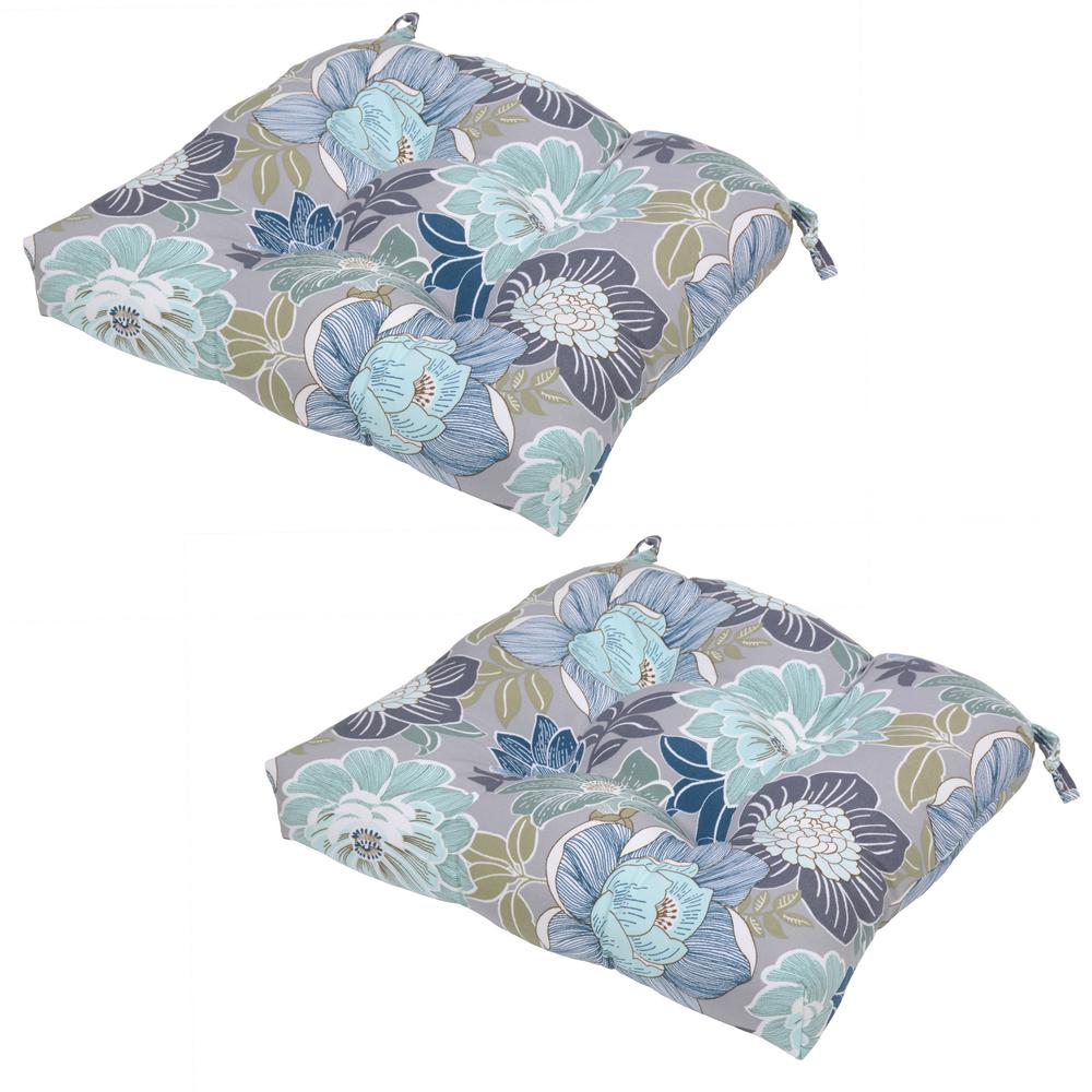null charleston floral outdoor seat cushion 2pack