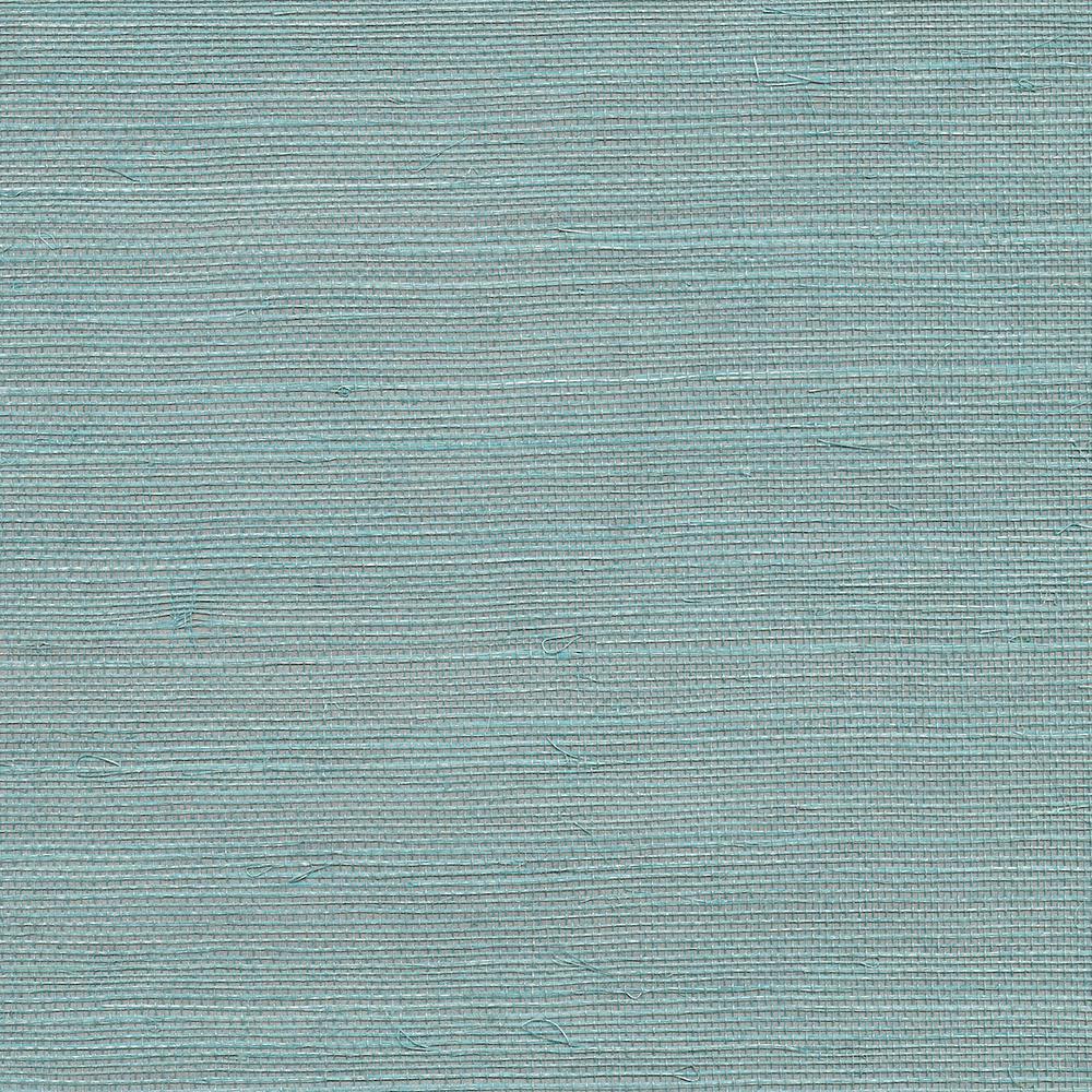 72 sq. ft. Haiphong Turquoise Grass Cloth Wallpaper