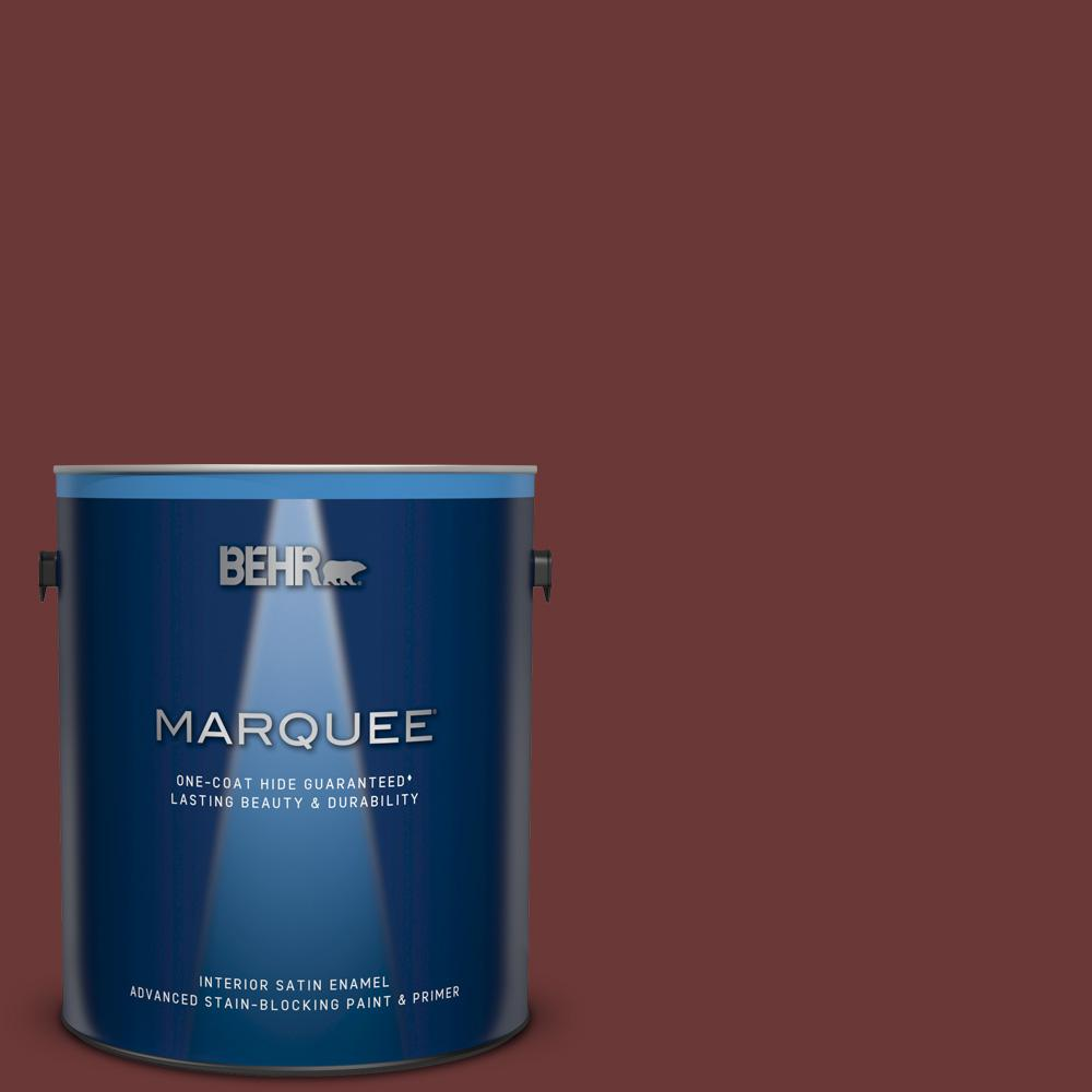 1 gal. #ECC-31-3 Autumn Leaves Satin Enamel Interior Paint and Primer